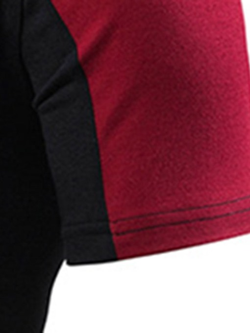 Ericdress Casual Color Block Mens Slim Polo Shirt