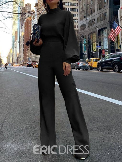 Ericdress Fashion Plain Full Length Slim Jumpsuit