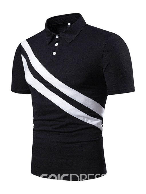 Ericdress Casual Button Mens Inelastic Polo Shirt