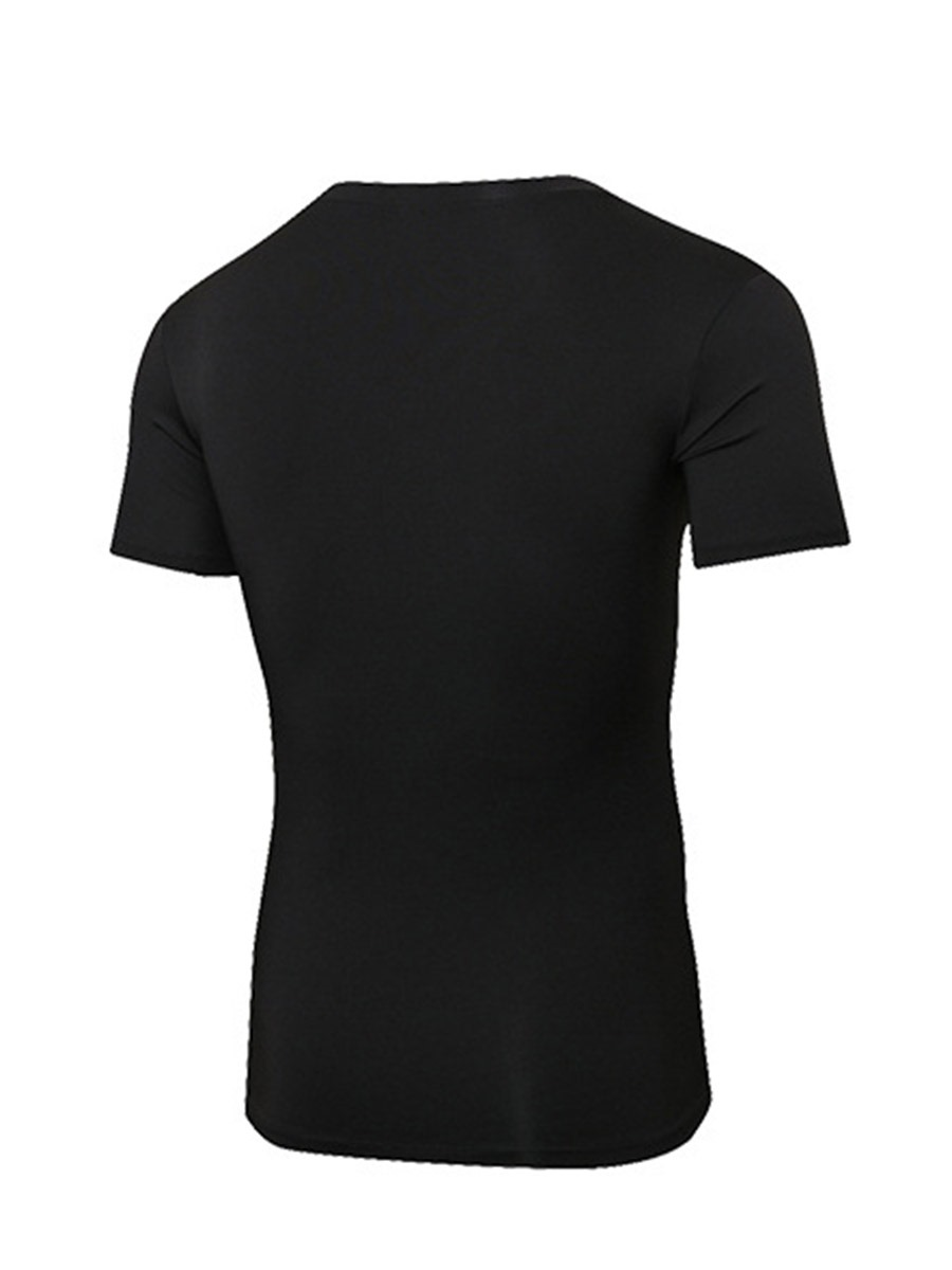 Ericdress Men Solid Quick Dry V-Neck Pullover Sports Tops