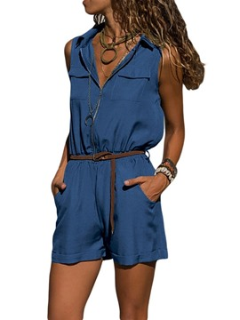Ericdress Pocket Casual Plain Straight Loose Jumpsuit(Without Belt)
