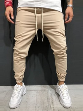 Ericdress Pocket Plain Lace-Up Mens Casual Pants