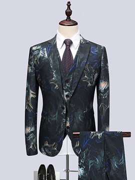 Ericdress Print Vest Fashion Mens Dress Suit