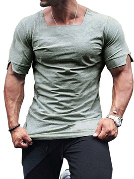 Ericdress Casual Plain Mens Slim T-shirt