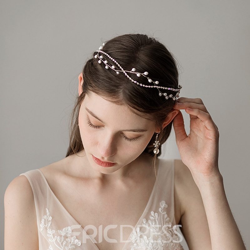Pearl Inlaid Spherical Hairband Hair Accessories (Wedding)
