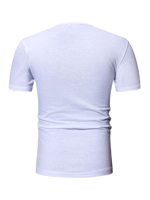 Ericdress Print Round Neck Casual Wrapped Mens Slim T-shirt