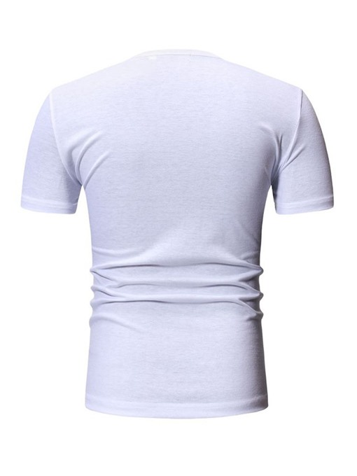 Ericdress Round Neck Letter Print Loose Mens T-shirt