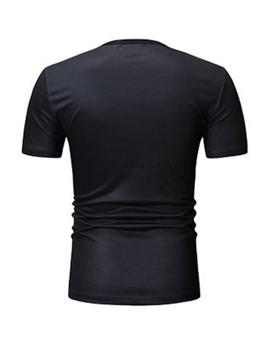 Ericdress Print Round Neck Casual Wrapped Mens Loose T-shirt