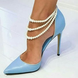 626c4195b760 Ericdress Beads Pointed Toe Stiletto Heel Women s Prom Shoes