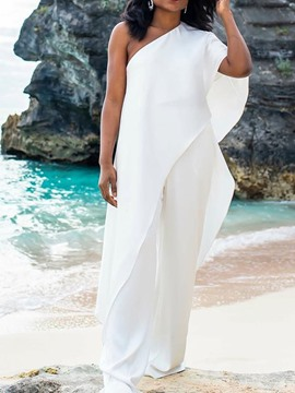 Ericdress Plain Full Length Travel Look Slim Jumpsuit