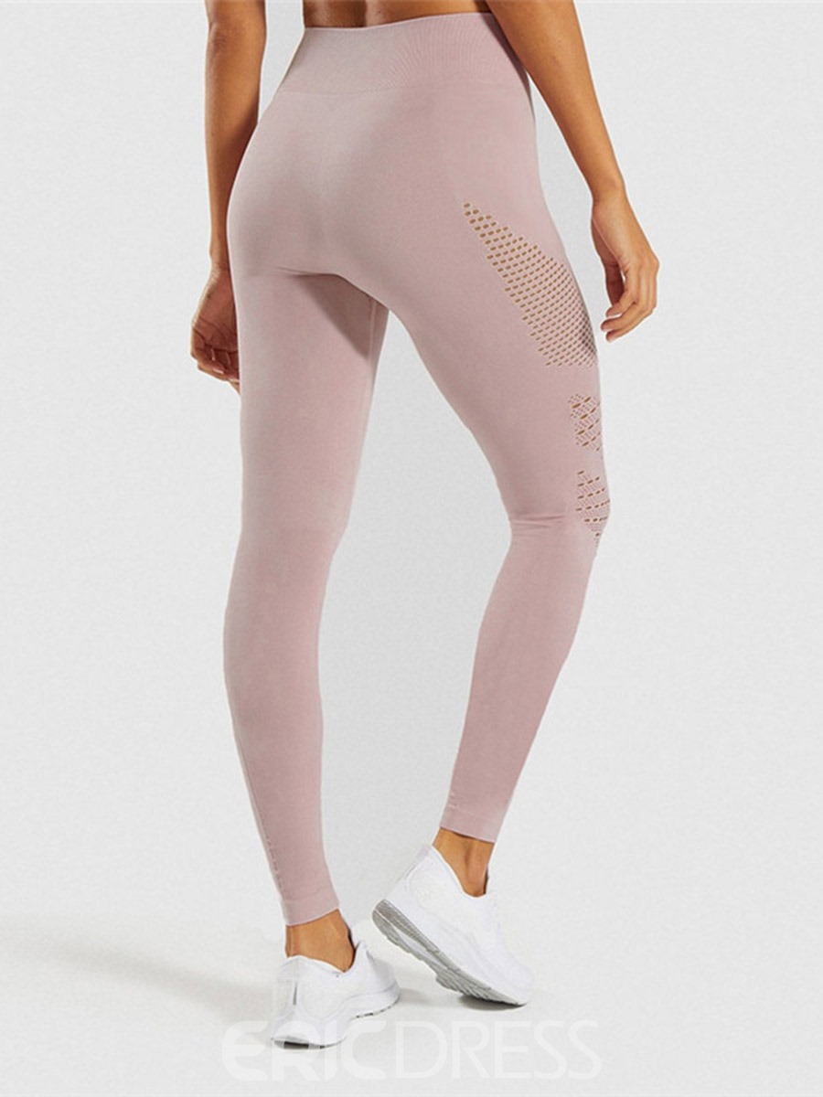 Ericdress Breathable Solid Ankle Length Gym Yoga Leggings