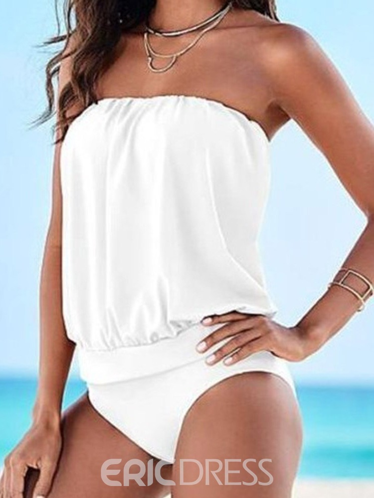 Ericdress Pleated Plain Sexy Swimwear