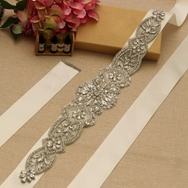 Regular(2-4cm) Ribbon Rhinestones Bridal Belts