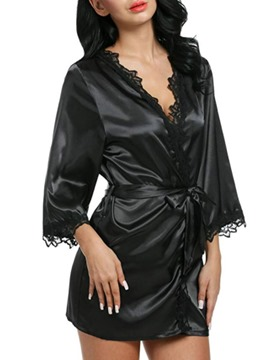 Ericdress Single Plain Lace Regular Nine Points Sleeve Night-Robes