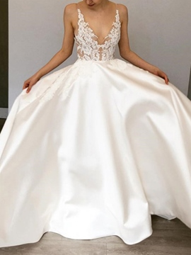 Ericdress A-Line Lace Hall Wedding Dress