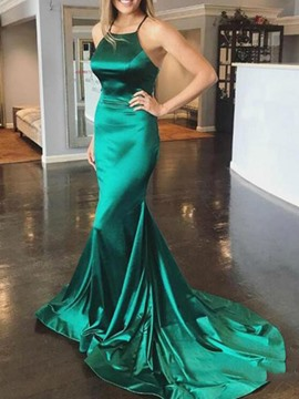 Ericdress Halter Mermaid Evening Dress 2019 With Court Train