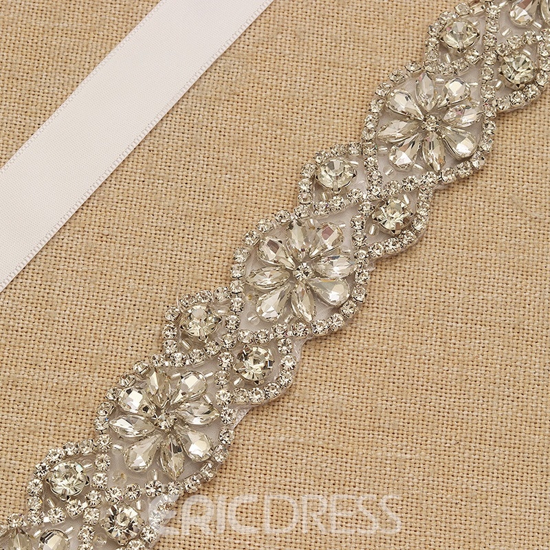 Regular(2-4cm) Ribbon Rhinestone Bridal Belts