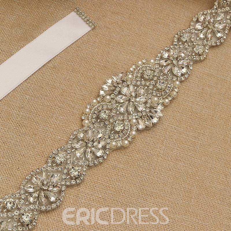 Delicate Regular(2-4cm) Ribbon Rhinestone Bridal Belts