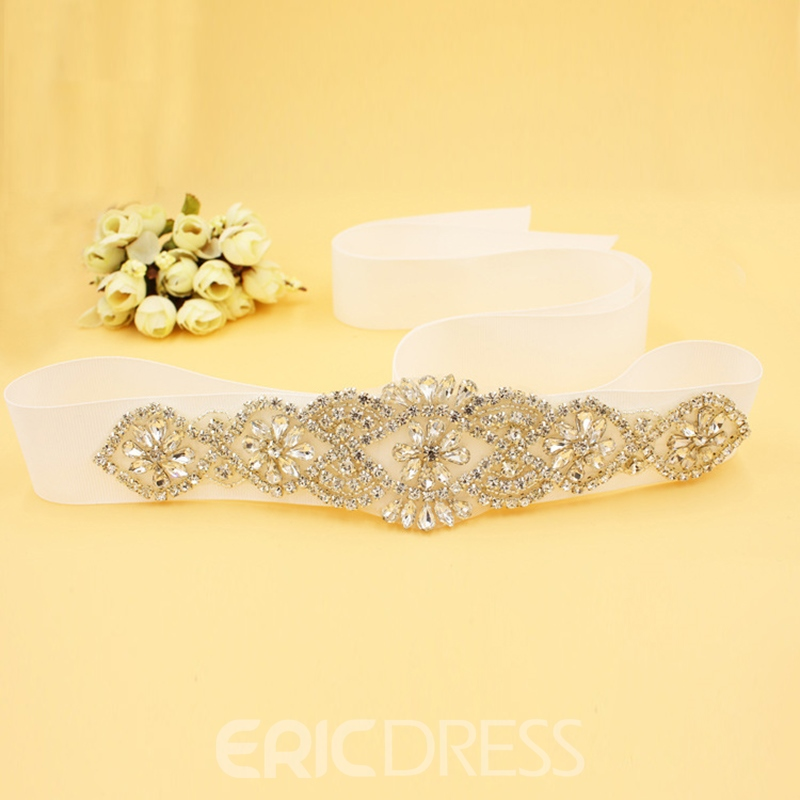 Regular(2-4cm) Galloon Rhinestone Wedding Belts 2019