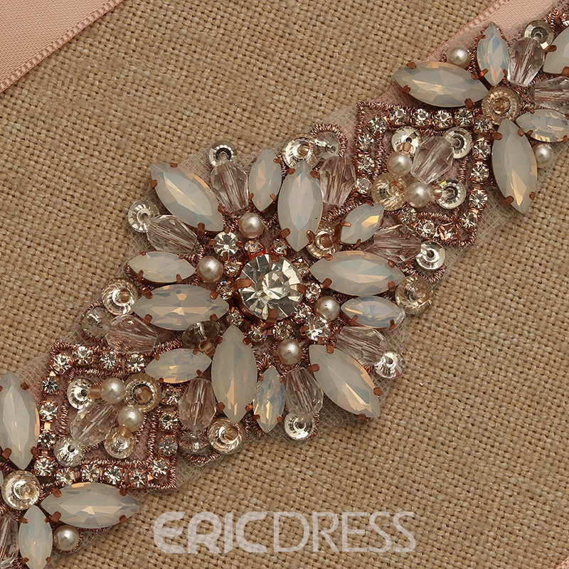 Regular(2-4cm) Ribbon Rhinestone Bridal Belts 2019