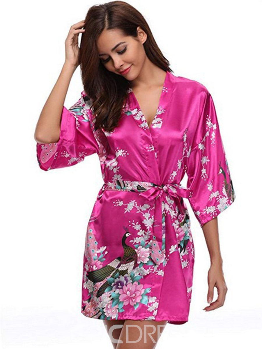 Ericdress Floral Print Single Sweet Summer Night-Robes
