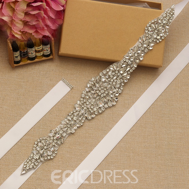 Ribbon Rhinestone Bridal Belts