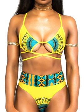 Ericdress Beach Look Color Block Tankini Set Swimwear