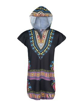 Ericdress Print V-Neck Dashiki Ethnic Loose Mens T-shirt