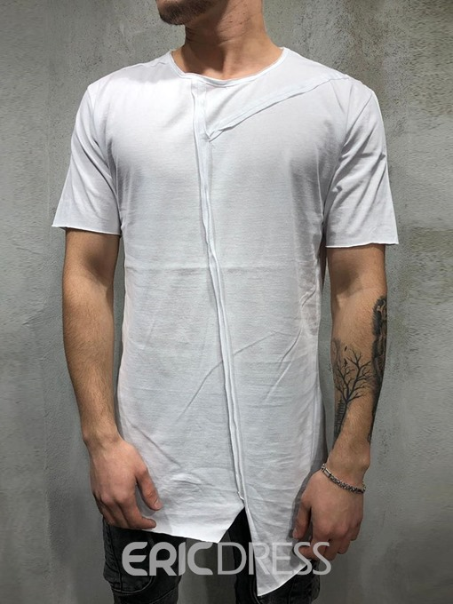 Ericdress Casual Plain Round Neck Loose Mens T-shirt
