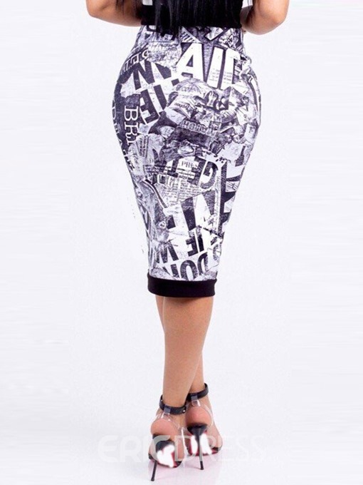 Ericdress Mid-Calf Zipper A-Line Casual Skirt