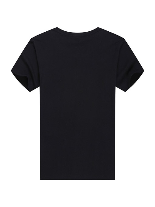 Ericdress Casual Round Neck Print Mens Slim T-shirt