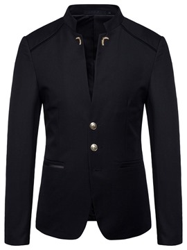 Ericdress Casual Pocket Plain Mens Blazers