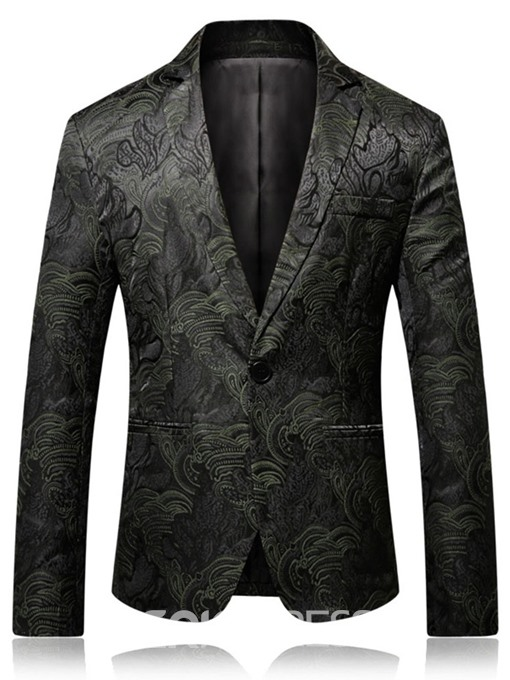 Ericdress Fashion One Button Notched Lapel Mens Blazers