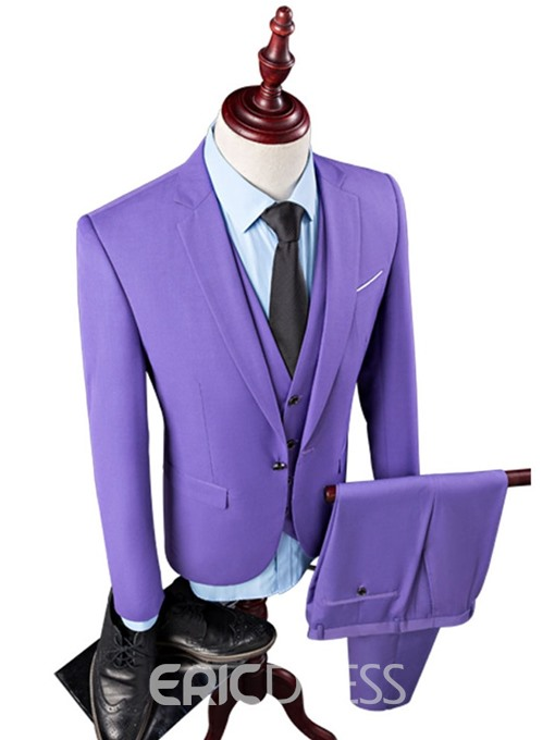 Ericdress One Button Mens Dress Suit