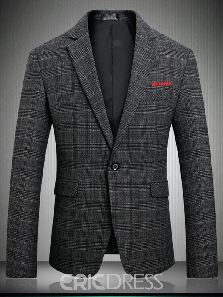Ericdress Button Casual Notched Mens Lapel Blazer