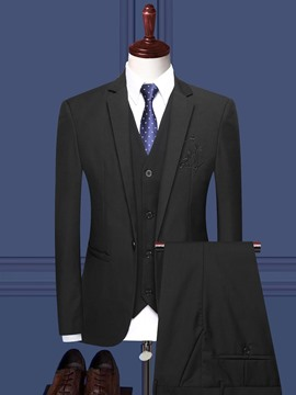 Ericdress Plain One Button Formal Mens Dress Suit