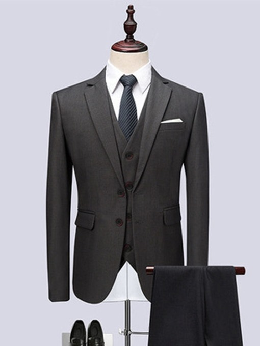 Ericdress Single-Breasted Button Formal Mens Dress Suit