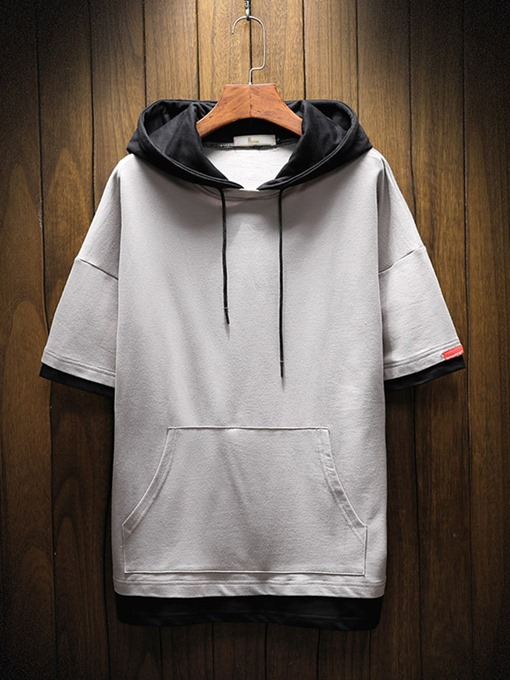 Ericdress Pullover Color Block Men's Casual Hoodies