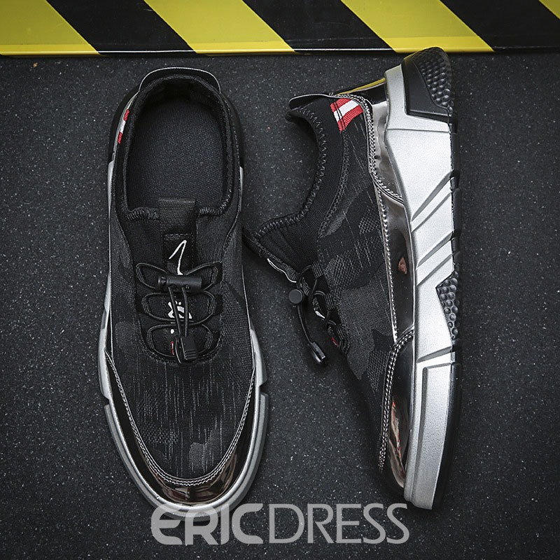 Ericdress Mesh Color Block Elastic Band Men's Sneakers
