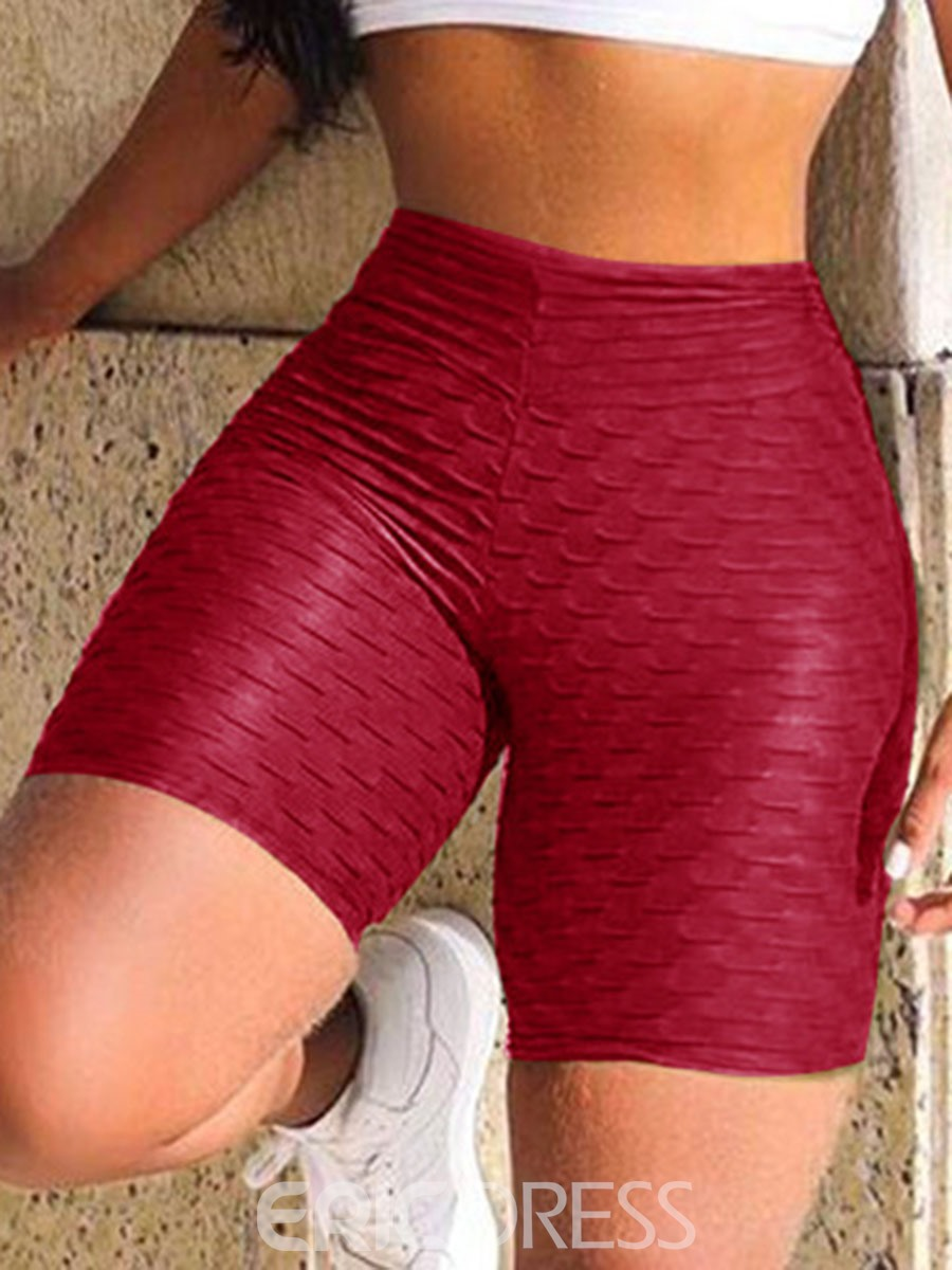 Ericdress Solid Shorts Fitness Gym Sports Summer Yoga Pants