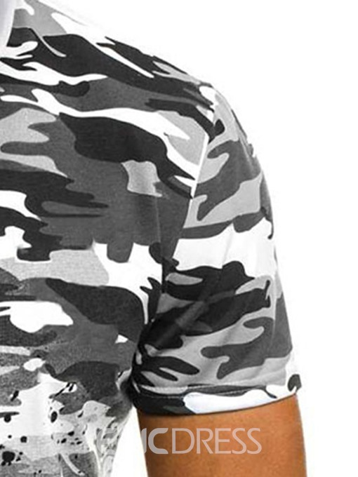 Ericdress Camouflage Casual Print Slim Mens T-shirt