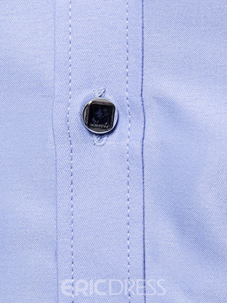 Ericdress Button Casual Lapel Single-Breasted Mens Spring Shirt