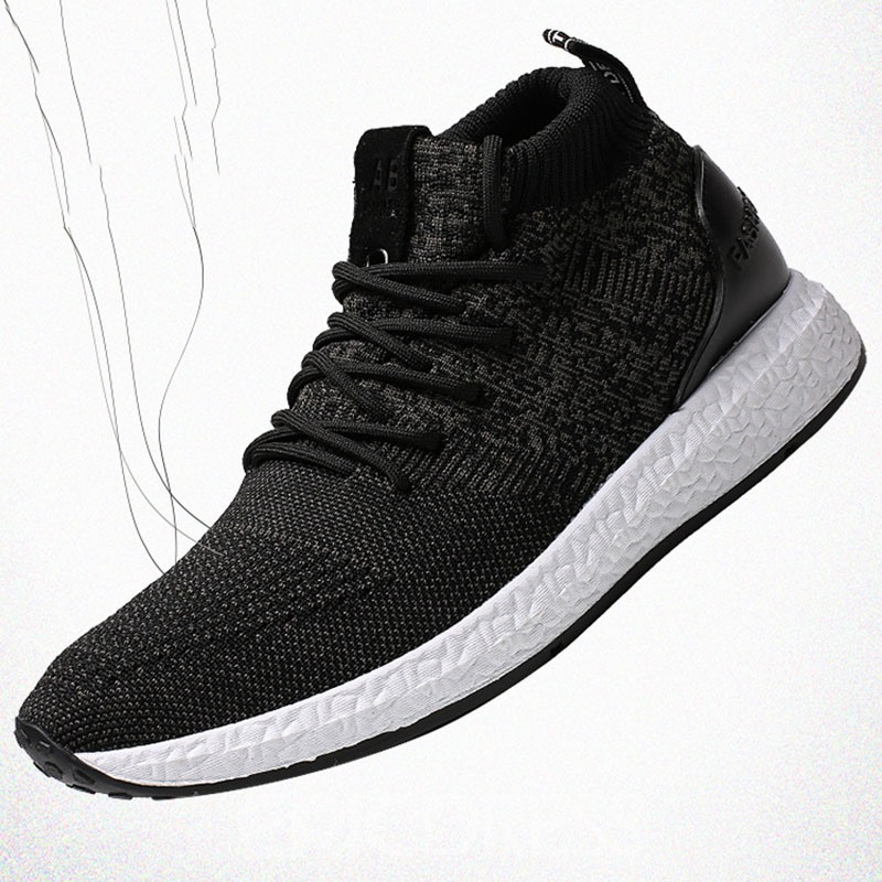 Ericdress Mesh Round Toe Mid-Cut Upper Lace-Up Men's Sneakers