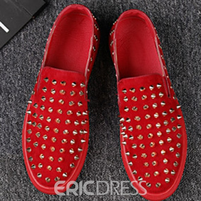 Ericdress Rivet Low-Cut Upper Slip-On Men's Shoes