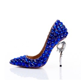 b842ed64fe9b Ericdress Pointed Toe Rhinestone Slip-On Women s Proms Shoes