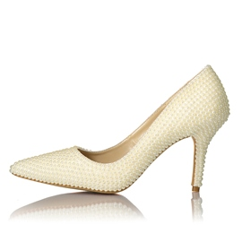 Ericdress Beads Stiletto Heel Pointed Toe Women's Prom Shoes