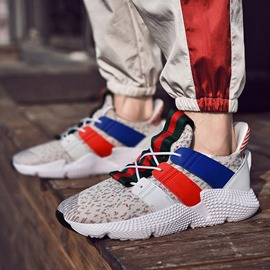 Ericdress Mesh Color Block Lace-Up Men's Chic Athletic Shoes