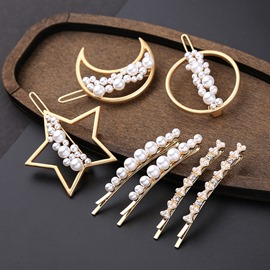 Ericdress Barrette Pearl Simple Hair Accessories