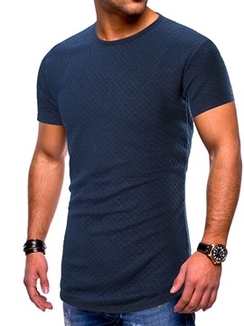 Ericdress Casual Round Neck Plain Slim Mens Short Sleeve T-shirt