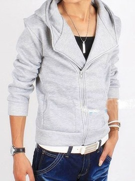 Ericdress Plain Cardigan Men's Casual Hoodies